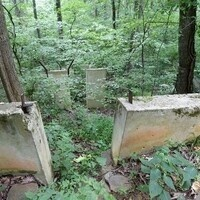 concrete supports for old toboggan run