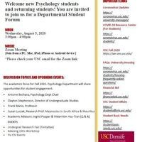 Psychology Department Student Forum