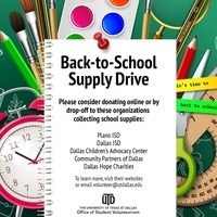 OSV August School Supply Drive