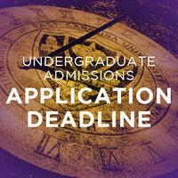 Freshman Application Deadline for Fall 2021