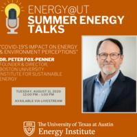 COVID-19's Impact on Energy & Environment Perceptions