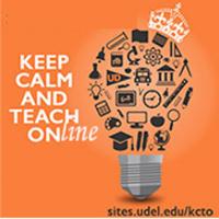 Keep Calm and Teach Online 2020 logo