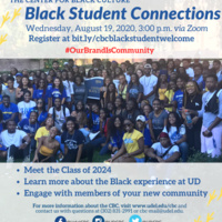 Black Student Connections flyer