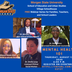 Village Schoolhouse Webinar Series Mental Health 101
