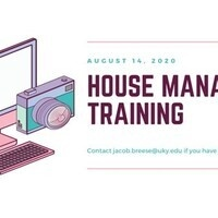 House Manager Training - PC Chapters