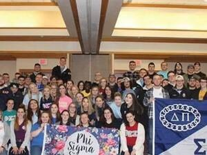 fraternity and sorority members at pitt johnstown