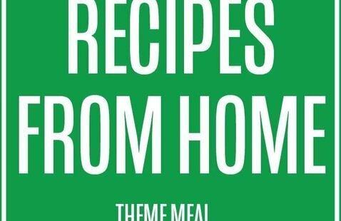 text that reads recipes from home theme meal