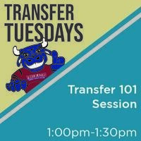 Transfer Tuesdays. Transfer 101 Session. 1p.m. til 1:30 p.m.