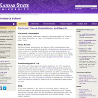 ETDR Landing Page at https://www.k-state.edu/grad/etdr/