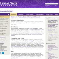 ETDR Landing Page at https://www.k-state.edu/grad/etdr/