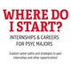 Where Do I Start? - Internships & Careers for Psyc Majors