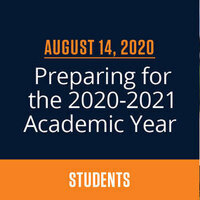 Student Town Hall: Preparing for the 2020-2021 Academic Year