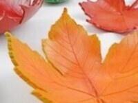 BUDDING ARTISTS IN A BAG: Leaf Bowls