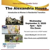 Voices of Justice Speaker Series - Alexandria House