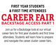 Career Fair Backstage Access: First Year Students & First Time Attendees