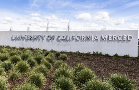 Welcome sign at UC Merced