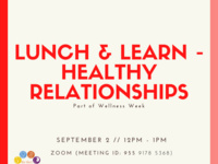 Lunch & Learn - Healthy Relationships