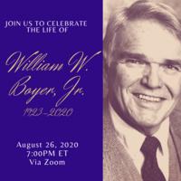 A Celebration of Life: William W. Boyer, Jr.