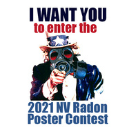 Uncle Sam wearing a gas mask telling you to enter the 2021 Nevada Radon Poster Contest