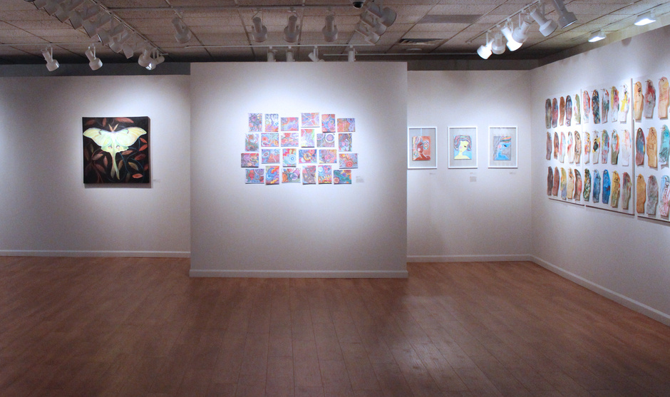Installation view of Infectious Creativity Exhibition