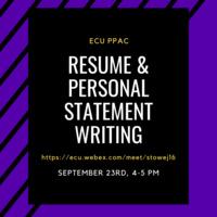 Resume & Personal Statement Writing