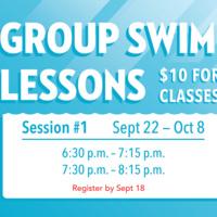 Group Swim Lesson 2 - Registration Open