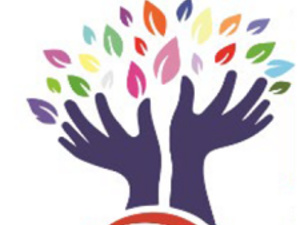 Westmoreland Diversity Coalition Logo feature two hands reaching up to a mass of multi-colored leaves