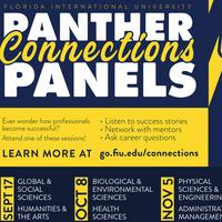 All panels start at 3:30 p.m.! Join us via go.fiu.edu/fallpanels