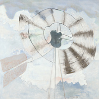 Shirley Smith, title unknown (windmill), 1990, oil on canvas, gift of the estate of Shirley Smith, 2014.43