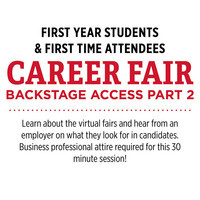 Backstage Access 2: First Year & First Time Attendees
