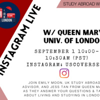 Instagram Live Chat with Queen Mary Univ. of London (part of Study Abroad Week)