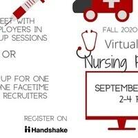 University Career Center Fall 2020 Virtual Nursing Career Fair