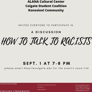 13 Days: Dialogue About Opinion: How to Talk to a Racist