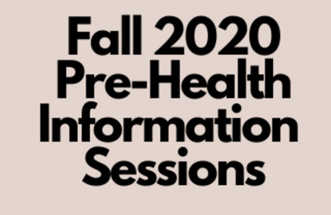 Pre-Health 101 Informational Session