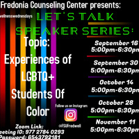 "Let's Talk Speaker Series: ""Experiences of LGBTQ+ Students of Color"""