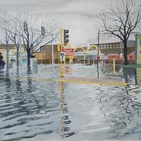 Chicago Rain, 2020, Meredith Leich, watercolor