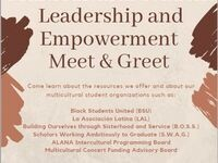 Multicultural Student Leadership and Empowerment Meet & Greet