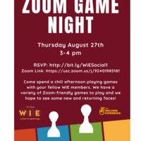 Women in Engineering Zoom Game Night