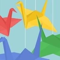 Making Cranes for DanceBlue