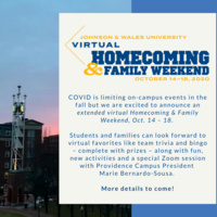 Virtual Homecoming & Family Weekend announcement