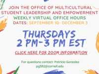Multicultural Student Leadership and Empowerment Weekly VirtualOffice Hours