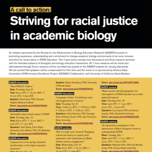 Striving for Racial Justice in Academic Biology