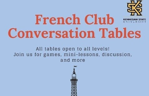 Advanced French Conversation Table, every Tuesday from 6-7 pm on Zoom