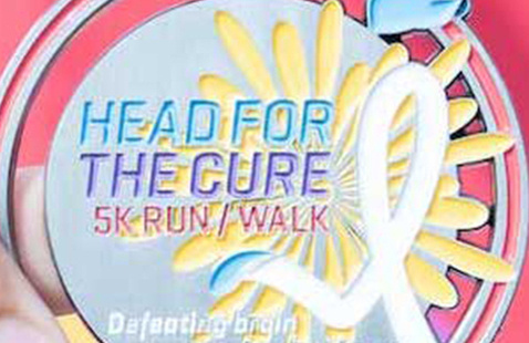 Head for the Cure medal