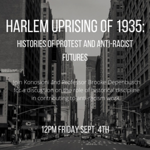 """13 Days of Education- """"Harlem Uprising of 1935: Histories of Protest and Anti-Racist Futures"""""""