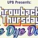 UPB's Throwback Thursday: Tie Dye