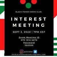 Black Power Book Club Interest Meeting