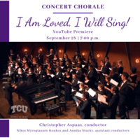 Ensemble Concert Series: TCU Concert Chorale.  Cecilia Kao, piano.