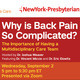 Spine Time - Why is Back Pain So Complicated?