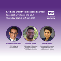 K-12 and Covid event graphic